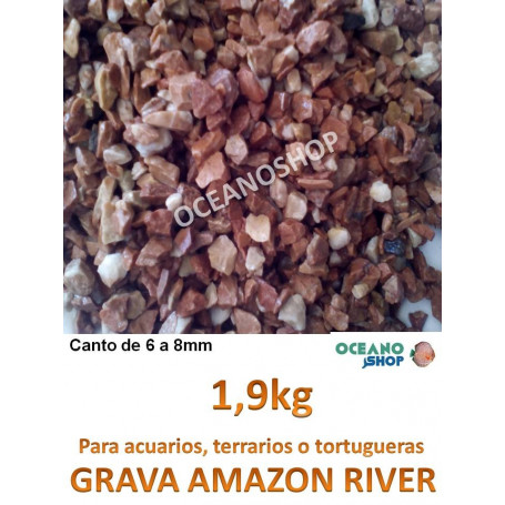 Grava natural AMAZON RIVER 1,9KG