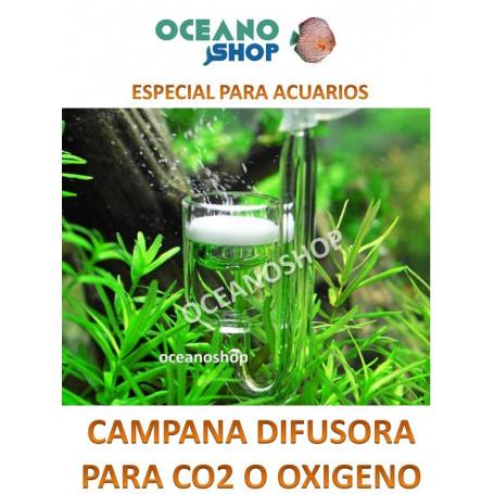 Difusor campana para co2 o oxigeno