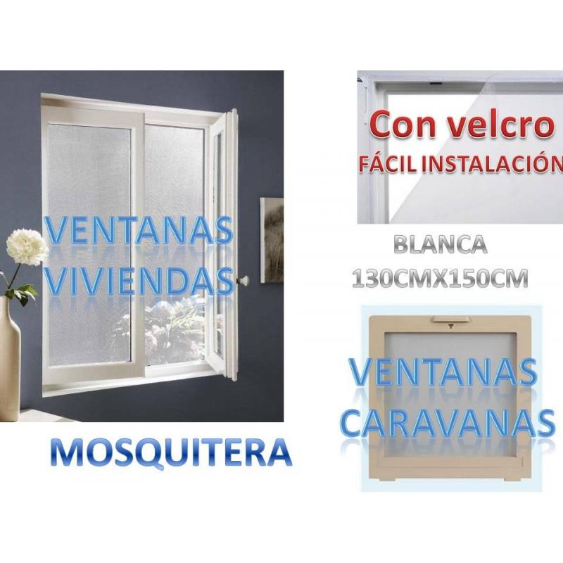 Mosquitera color blanco para viviendas caravanas etc medidas 130cmx150cm velcro