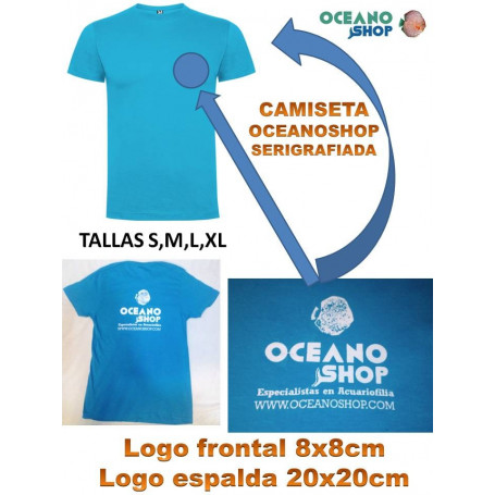 CAMISETA OCEANOSHOP.COM COLOR CELESTE