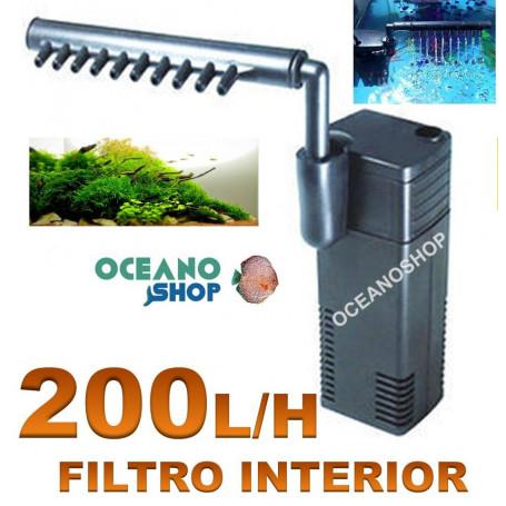 Filtro interior 200l/h 2w hj-111B