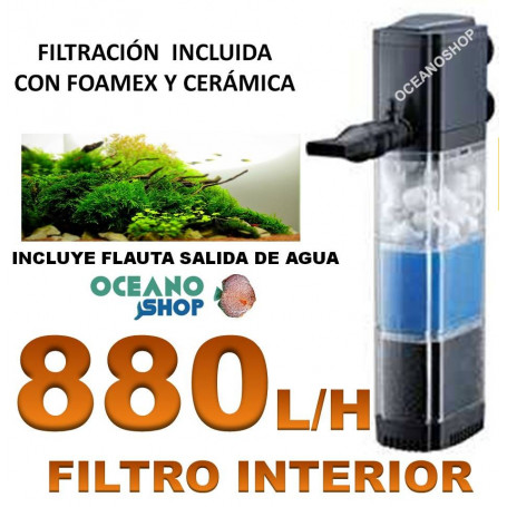 Filtro interno 880l/h foamex + ceramica Asian star fg-1203