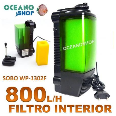 SOBO WP 1302F filtro acuario eheim interior 800lh