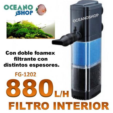 Filtro interno 880l/h doble foamex Asian star fg-1202
