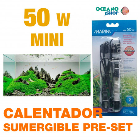 MINI CALENTADORES SUMERGIBLE PRE-SET MARINA - 50w