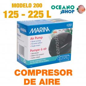 Compresor de Aire MARINA 200 calidad aire Oxigenador CO2 bomba Acuario difusor