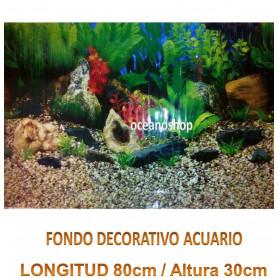 Fondo decorativo acuario 80x30cm