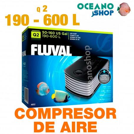 Compresores de Aire FLUVAL Q - Q 2 calidad aire Oxigenador CO2 bomba Acuario difusor