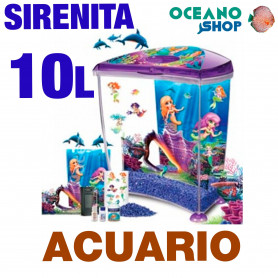 Kit Acuario Sirenita 10L Marina