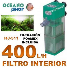 filtro 400 lh sunsun hj 511 interior acuario interno foamex