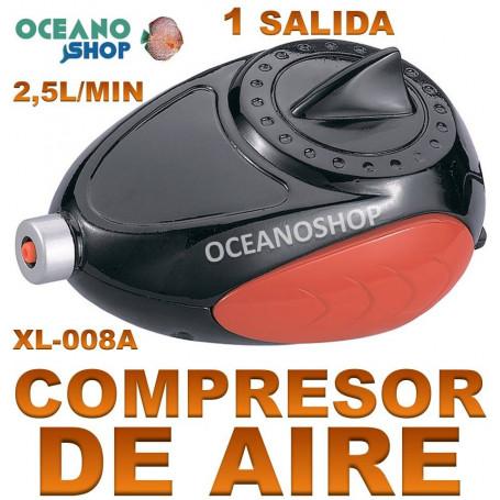 aireador xilong xl 008A compresor acuario 2,5 lmin