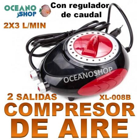 aireador xilong xl 008b compresor acuario 2x3 lmin