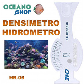 Densimetro hidrometro para salinidad marina. Aleas HR-06