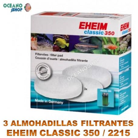 almohadillas filtrantes eheim classic 350 x3 2215 blancas