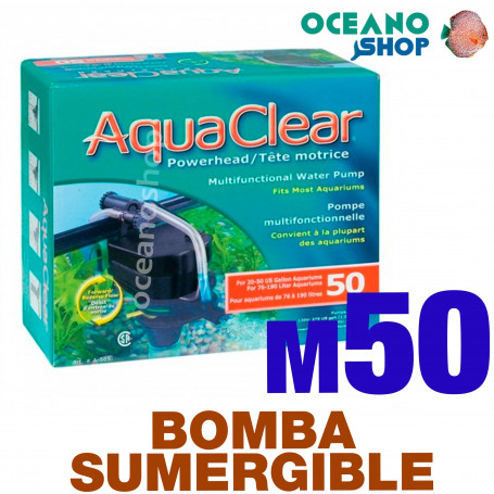 Bomba POWER HEAD Sumergible Reversible Aquaclear - 50
