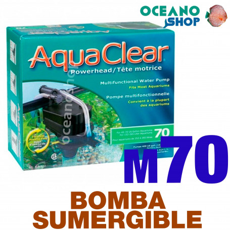 Bomba POWER HEAD Sumergible Reversible Aquaclear - 70