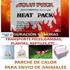 PARCHE DE CALOR HEAT PACK 40 HORAS en envio de peces, gambas y reptiles