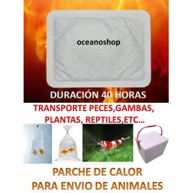 1 UD PARCHE DE CALOR HEAT PACK 40 HORAS en envio de peces, gambas y reptiles