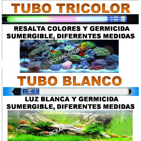 tubo roxin pantalla blanco tricolor acuario