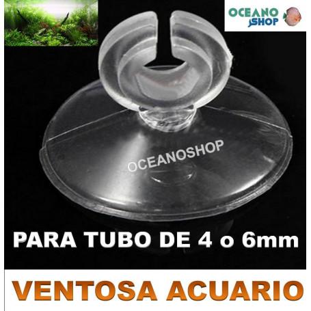 5 Ventosas para tubo de 4 o 6mm de acuario