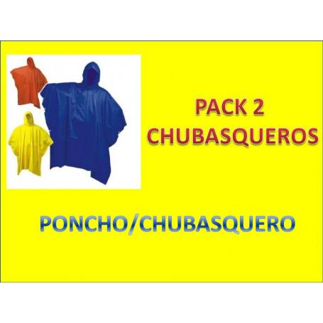 Pack 2 uds chubasquero grande adulto poncho.