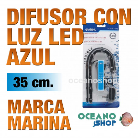 Difusor con Luz Led Air Curtain MARINA - Azul 35cm