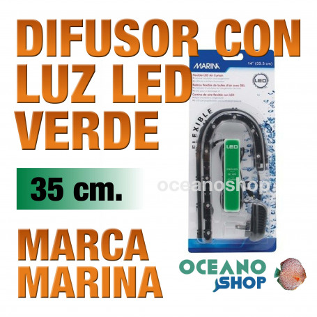 Difusor con Luz Led Air Curtain MARINA - Verde 35cm