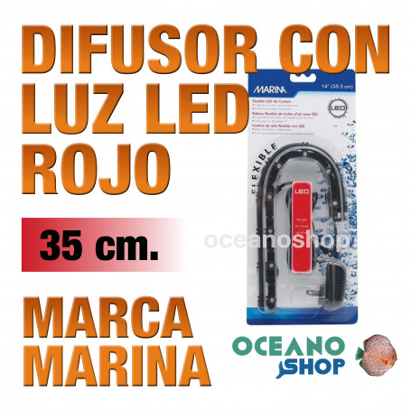 Difusor con Luz Led Air Curtain MARINA - Rojo 35cm