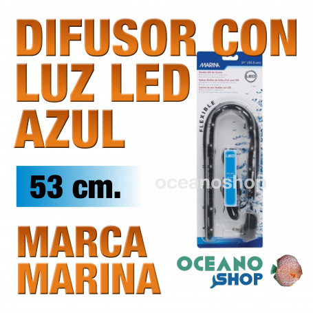 Difusor con Luz Led Air Curtain MARINA - Azul 53cm