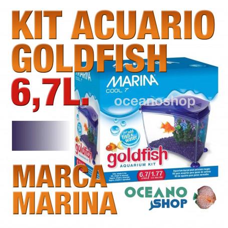 Acuario para Agua Fria Goldfish kit 6,7l MARINA - Purpura