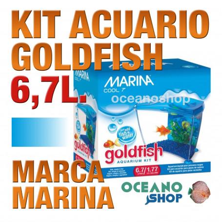 Acuario para Agua Fria Goldfish kit 6,7l MARINA - Azul