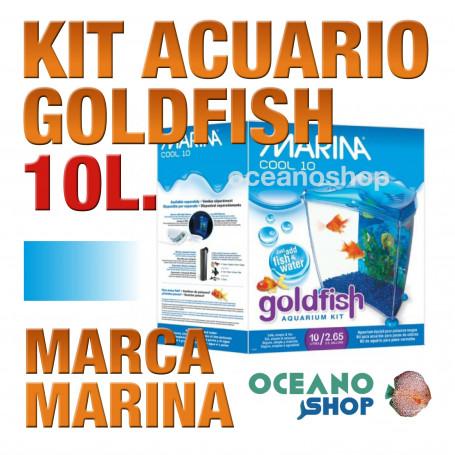 Acuario para Agua Fria Goldfish kit 10L MARINA - Azul