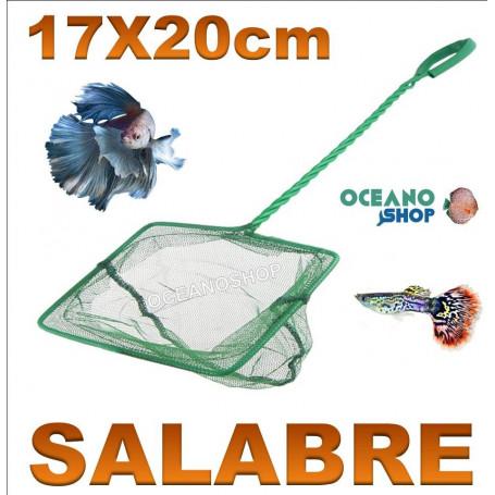 Red salabre para acuario de 17x20cm mango 37cm,red verde