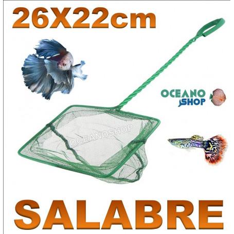 Red salabre para acuario de 26x22cm mango 40cm,red verde