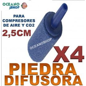 piedra difusora difusor acuario co2 o2 oxigeno compresor 2,5cm X4