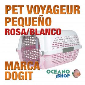 DOGITPETVOYAGEURPequeño ROSA/BLANCO