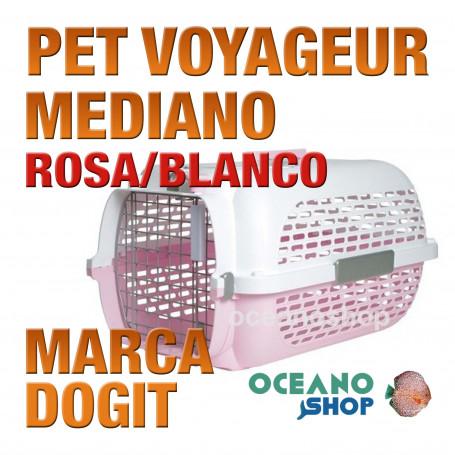 DOGITPETVOYAGEUR Mediano ROSA/BLANCO