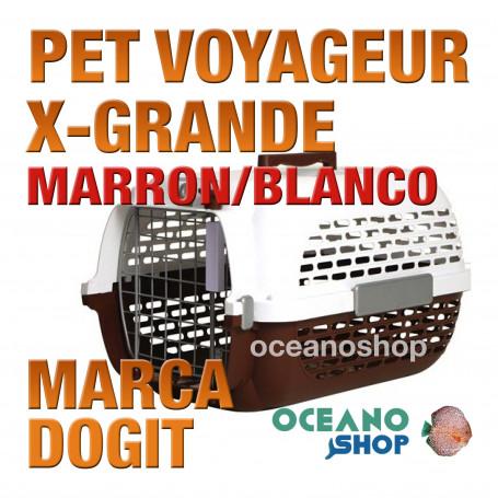 DOGITPETVOYAGEURX-Grande MARRON/BLANCO