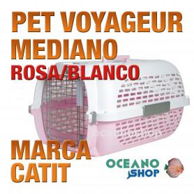 CATIT PET VOYAGEUR MEDIANO ROSA/BLANCO