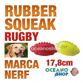 RUBBER SQUEAK RUGBY 17,8cm