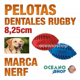 TEETHER PELOTA RUGBY 8,25cm