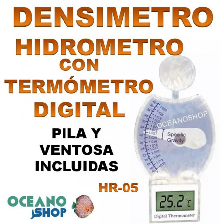 hidrometro densimetro con termometro digital 3 en 1 aleas hr 05