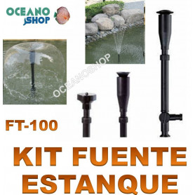 kit fuente estanque boquillas sobo ft 100 accesorios rociador