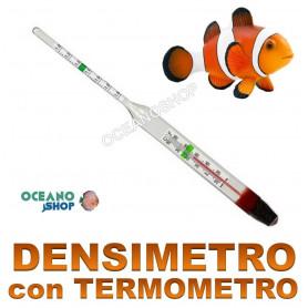 Densimetro Termometro de cristal de alta precisión de 20 cm para acuario marino