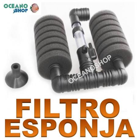 filtro esponja biologico doble foamex acuario barato