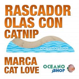 CAT LOVE Rascador Olas con Catnip