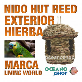 L.W.OUTDOOR NIDO HUT REED 17X17X20cm