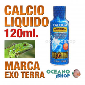 EXO TERRA CALCIUN LIQ - 120 ML