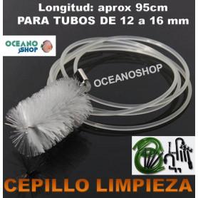 cepillo tubo manguera acuario filtro limpieza algas