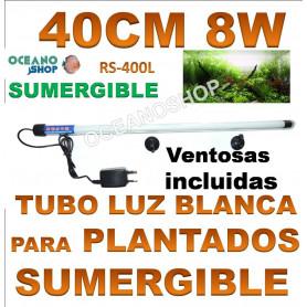 rs 400l 8w 40cm electrical tubo sumergilble blanco plantas acuarios pantalla